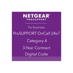 NETGEAR ProSupport OnCall 24x7 Category 4 - technical support