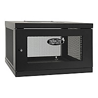 Tripp Lite 6U Wall Mount Rack Enclosure Cabinet Knock Down w/Doors & Sides