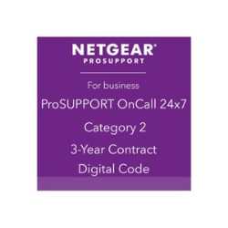 NETGEAR ProSupport OnCall 24x7 Category 2 - technical support - 3 years