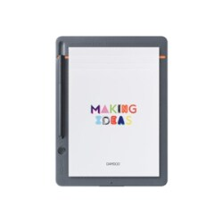 Wacom Bamboo Slate Small - digitizer - Bluetooth - medium gray with orange