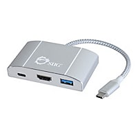 SIIG USB 3.1 Type-C Hub with HDMI & PD Charging Adapter - docking station -