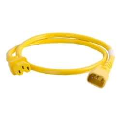 C2G 3ft 14AWG Power Cord (IEC320C14 to IEC320C13) - Yellow - power cable -