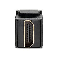 Tripp Lite HDMI Coupler Keystone Panel Mount Angled F/F Black - HDMI with E