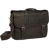 Samsonite Colombian Leather Flapover Laptop Bag