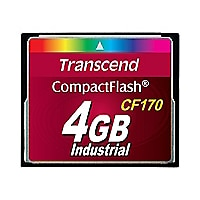 Transcend CF170 Industrial - flash memory card - 4 GB - CompactFlash