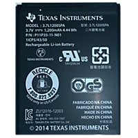 Texas Instruments Rechargeable Battery - Black