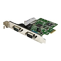 StarTech.com 2-Port PCI Express Serial Card with 16C1050 UART - RS232