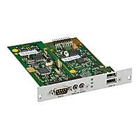 Black Box DKM FX Receiver Modular Interface Card - audio/USB/serial extende