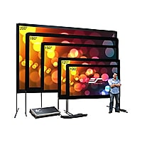 Elite Screens Yard Master Series OMS150H - projection screen with legs - 15