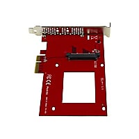 "StarTech.com U.2 to PCIe Adapter for 2.5"" U.2 NVMe SSD - SFF-8639 - x4 PCIe"