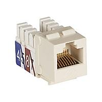 Black Box CAT3 RJ45 Keystone Modular Jack Office White, Voice / 10Mbps Data