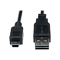 Tripp Lite 6ft USB 2.0 High Speed Cable Reversible A to 5Pin Mini B M/M 6'