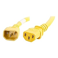 C2G 2ft 18AWG Power Cord (IEC320C14 to IEC320C13) - Yellow - power cable -