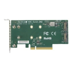 Supermicro Add-on Card AOC-SLG3-2M2 - interface adapter - M.2 Card - PCIe 3