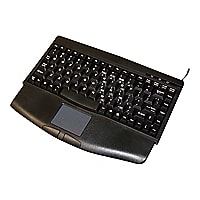 iKey - keyboard - with touchpad - US - black, charcoal gray