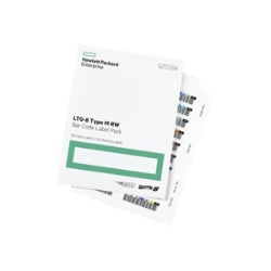 HPE LTO-8 Ultrium RW Bar Code Label Pack - barcode labels