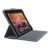 Logitech Slim Folio - keyboard and folio case - black - for Apple 9.7-inch