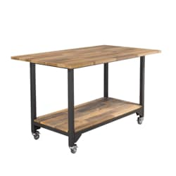 Vari Standing Conference Table Reclaimed Wood