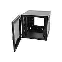 Legrand 12RU Swing-Out Wall-Mount Cabinet with Plexiglass Door-Black-TAA sy