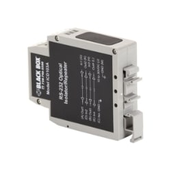 Black Box RS-232 DIN Rail Optical Isolator/Repeater - repeater - RS-232