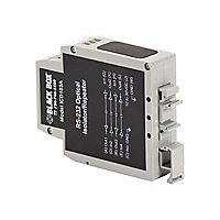 Black Box RS-232 DIN Rail Optical Isolator/Repeater - relais - RS-232