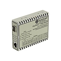 Black Box FlexPoint - fiber media converter - 10Mb LAN, 100Mb LAN, GigE - T