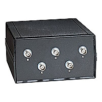 Black Box Coax Switch ABCDE (4 to 1) - commutateur - 4 ports