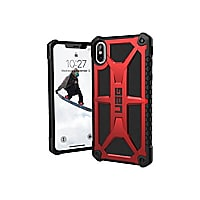 UAG Rugged Case for iPhone XS Max [6.5-inch screen] - Monarch Crimson - bac