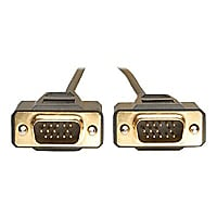 Tripp Lite 10ft VGA Monitor Gold Cable Molded Shielded HD15 M/M 10'