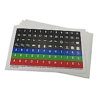 P.I. Engineering X-keys Pre-Printed Legends - keyboard key stickers