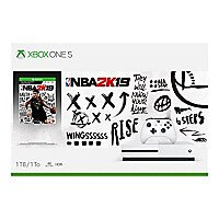 Microsoft Xbox One S - NBA 2K19 Bundle - game console - 1 TB HDD - robot wh