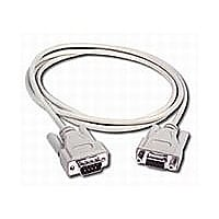C2G 6ft DB9 Serial RS232 Extension Cable - Beige - Male to Female