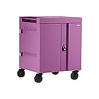 Bretford 36-Unit CUBE Charging AC Cart with 270deg. Doors - Orchid