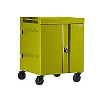 Bretford 36-Unit CUBE Charging AC Cart with 270deg. Doors - Electric Green