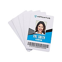 Advantus Blank Polyvinyl Chloride ID Card - White,100/Pack