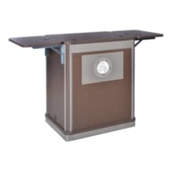 Spectrum Compact Lectern with Flip-Up Shelf - Wild Cherry/Black