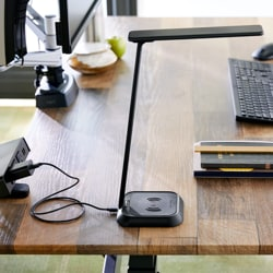 VARIDESK - LED Task Lamp with Wireless Charging - Desk Lamp