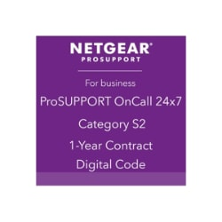 NETGEAR ProSupport OnCall 24x7 Category S2 - technical support - 1 year