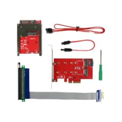 CRU Ditto - PCIe x16 to x1 extension/adapter cable, PCIe host card with 2x