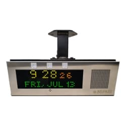 Advanced Network Double-Sided IP Clock with Wall Mount and Flashers