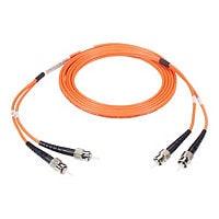Black Box 2M Duplex Multimode Fiber 62.5/125 OM1 Patch Cable ST/ST 6ft