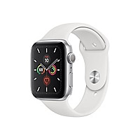 Apple Watch Series 5 (GPS) - silver aluminum - smart watch with sport band