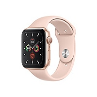Apple Watch Series 5 (GPS) - gold aluminum - smart watch with sport band -