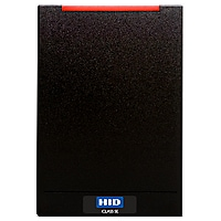 HID iCLASS R40 SE Contactless Smart Card Reader - Wall-Switch - Black
