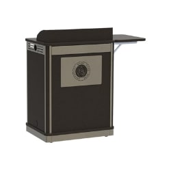 Spectrum Media Manager Series Compact Lectern - Graphite Talc/Dark Gray