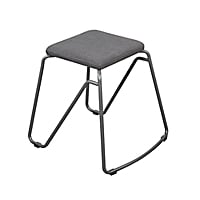 VARIDESK Stackable Stool with Cushion Seat - Slate - Set of 2