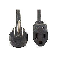 Tripp Lite Power Extension Cord Right-Angle 5-15P to 5-15R 16AWG 13A 1ft