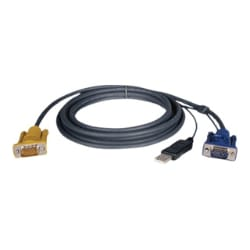 Tripp Lite KVM Switch Cable Kit 6ft USB 2-in-1 for B020 & B022 6'