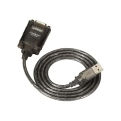 Black Box 6ft USB to RS232 Serial Adapter Cable, USB-A to DB9M, FTDI Chip