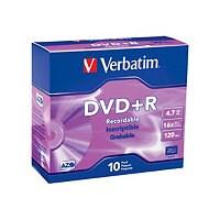 Verbatim - DVD+R x 10 - 4.7 GB - storage media